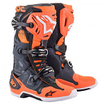Boty na motokros Alpinestars TECH 10 Cool Grey Orange Flo 2021