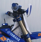 Kompletní brýle na motorku BudRacing Triple Clamps Yamaha YZ125 Blue
