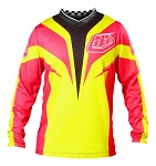 Dres TroyLeeDesigns GP AIR Jersey Mirage Yellow Pink 2013