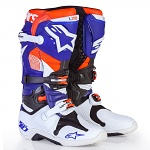 Boty na motokros Alpinestars TECH 10 Boot Indianapolis White Blue Orange