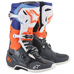 Boty na motokros Alpinestars TECH 10 Cool Grey OrangeFlo Blue White 2021