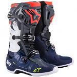 Boty na motokros Alpinestars TECH 10 Dark Gray Dark Blue Red Flo 2021