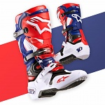 Boty na motokros Alpinestars TECH 10 Nations Blue Red White
