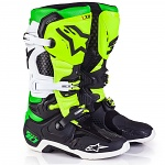 Boty na motokros Alpinestars TECH 10 Vegas Black White Green Flo Yellow Limited