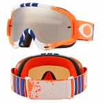 Brýle se zrcadlovým sklem Oakley Oframe Pinned Race Orange Blue Red Black Iridium Lens