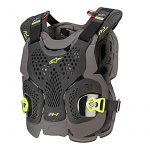 Chránič hrudi Alpinestars A1 Plus Chest Protector Black Anthracite Yellow Flo
