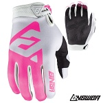 Dámské rukavice ANSWER AR1 WMX Glove Grey Pink 2018