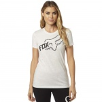Dámské tričko FOX Girls Reacted Crew SS Tee Light Heather Grey
