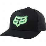 Dětská čepice FOX Youth Flame Head Snapback Hat Black Green
