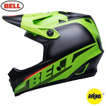 Dětská helma na motokros Bell Moto-9 Mips Youth Glory Matte Green Black Infrared 2020