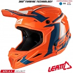 Dětská helma na motokros Leatt GPX 4.5 JR V10 Orange Denim 2018