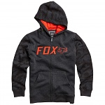 Dětská mikina FOX Youth Galatia Zip Hoody Heather Black