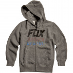 Dětská mikina FOX Youth Overdrive Zip Hoody Heather Graphite
