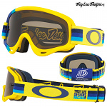 Dětské brýle Oakley XS Oframe TroyLeeDesigns Pre-Mix Yellow Blue Dark Grey Lens