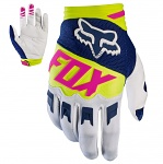 Dětské rukavice FOX Kids Dirtpaw Glove Race Navy White 2017