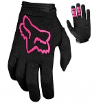Dětské rukavice FOX Youth Girls Dirtpaw Glove Black Pink 2019
