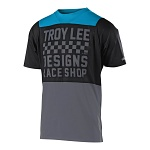 Dětský dres na kolo TroyLeeDesigns Skyline Youth Jersey Checker Ocean Black 2018