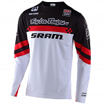 Dětský dres na kolo TroyLeeDesigns Sprint Jersey Youth Factory SRAM Black Red 2020