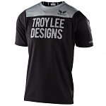 Dětský dres na kolo TroyLeeDesigns Youth Skyline SS Jersey Pinstripe Block Black Grey 2020