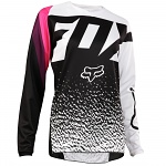 Dětský dres na motokros FOX 180 Jersey Youth Girls Black Pink 2018