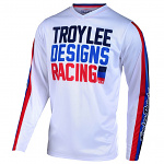 Dětský dres TroyLeeDesigns GP AIR Youth Jersey PREMIX 86 White 2020