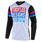 Dětský dres TroyLeeDesigns GP Jersey Youth Carlsbad White Black 2020