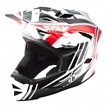 Downhill a bmx helma FLY Default Helmet Red Black White 2018