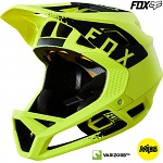 Downhill enduro helma Fox Proframe Helmet Mink Yellow Black 2018