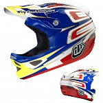 Downhill helma TroyLeeDesigns D3 Helmet Speed Blue White