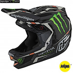Downhill helma TroyLeeDesigns D4 Carbon Helmet MIPS Monster Fairclough Black Limited Edition
