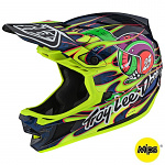 Downhill helma TroyLeeDesigns D4 Composite Helmet MIPS Eyeball Flo Yellow Limited Edition 2020