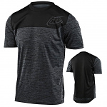Dres na kolo TroyLeeDesigns Flowline SS Jersey Shield Heather Black / Black 2020