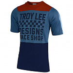 Dres na kolo TroyLeeDesigns Skyline AIR Checkers SS Jersey Heather Clay / Cadet 2019