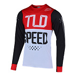 Dres na kolo TroyLeeDesigns Skyline AIR Speedshop LS Jersey Black / Red 2019
