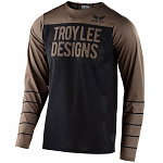 Dres na kolo TroyLeeDesigns Skyline AIR Speedshop LS Jersey Pinstripe Black Walnut 2020