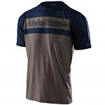 Dres na kolo TroyLeeDesigns Skyline AIR SS Jersey Factory Walnut Navy 2020