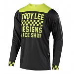 Dres na kolo TroyLeeDesigns Skyline LS Jersey Checker Black Lime 2018