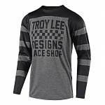 Dres na kolo TroyLeeDesigns Skyline LS Jersey Checker Grey Black 2018