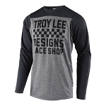 Dres na kolo TroyLeeDesigns Skyline LS Jersey Checker Heather Grey Black 2019