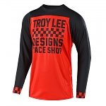Dres na kolo TroyLeeDesigns Skyline LS Jersey Checker Red Black 2018