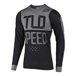 Dres na kolo TroyLeeDesigns Skyline LS Jersey Speedshop Black Heather Grey 2019