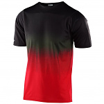 Dres na kolo TroyLeeDesigns Skyline SS Jersey STAIN´D Black Red 2020