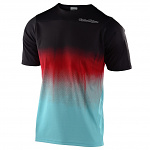 Dres na kolo TroyLeeDesigns Skyline SS Jersey STAIN´D Black Turquoise 2020