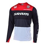 Dres na kolo TroyLeeDesigns Sprint Elite Jersey SRAM Beta Black Red 2019
