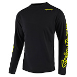 Dres na kolo TroyLeeDesigns Sprint Jersey Solid Black Flo Yellow 2019