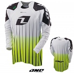MX dres One Industries Defcon Jersey Saber White Green