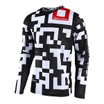 Dres TroyLeeDesigns GP AIR Jersey Maze White Black 2018