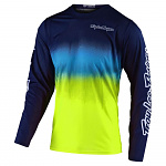Dres TroyLeeDesigns GP AIR Jersey Stain´D Navy Yellow 2020