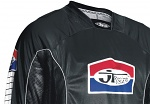 JT Racing Classic Jersey Black White dres moto