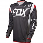 MTB dres FOX Flexair DH LS Jersey Black White